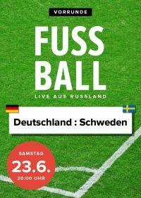 Fußball 2018 - Vorrunde: Deutschland : Schweden