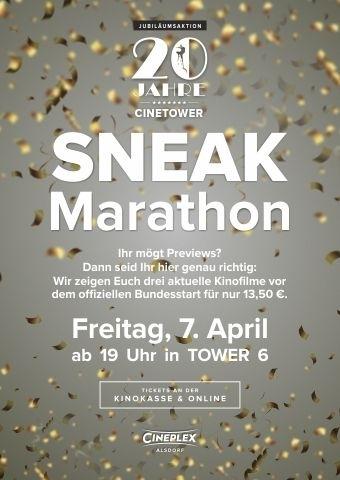 Sneak Marathon 20 Jahre Cinetower