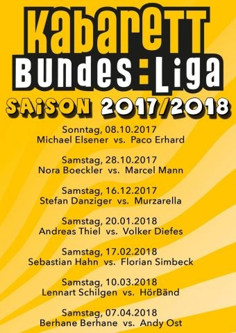 Kabarett Bundesliga 2017/2018