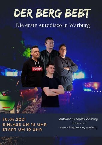 Der Berg bebt - Die erste Autodisco in Warburg
