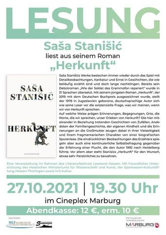 """Sasa Stanisic liest aus seinem Roman """"Herkunft"""""""