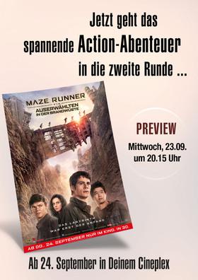 """Preview """"Maze Runner - Die Auserwählten in der Brandwüste"""""""