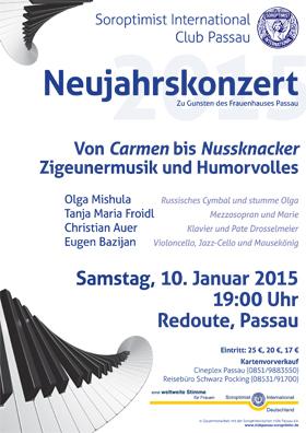 am Samstag,  10.01.2015 um 19:00 Uhr in der Redoute Passau