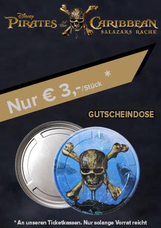 """Gutscheindosen """"Pirates of the Caribbean"""""""