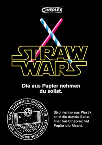 Straw Wars - Cineplex Nachhaltigkeit