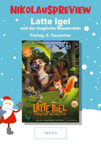 Nikolaus- Preview, natürlich am 06.12.2019, um 15 Uhr: Latte Igel