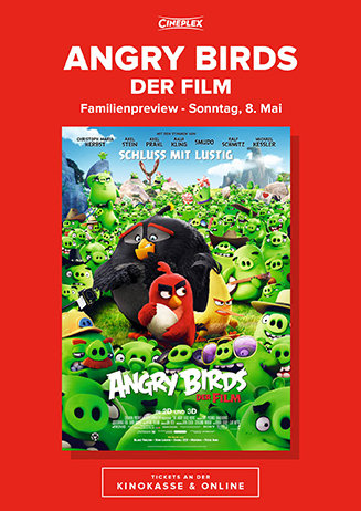 """Familien-Preview: """"Angry Birds - Der Film"""""""