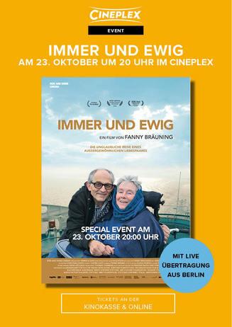 IMMER UND EWIG – ein einzigartiger Kinoabend in ganz Deutschland