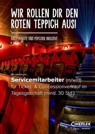 Job: Servicemitarbeiter für Ticket- & Concessionverkauf
