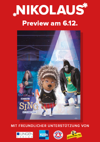 "Cineplex Nikolaus-Aktion & -Preview ""Sing (3D)"""