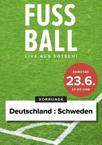 Fußball live: Deutschland-Schweden