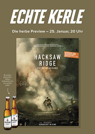 """Echte Kerle-Preview """"Hacksaw Ridge - Die Entscheidung"""""""