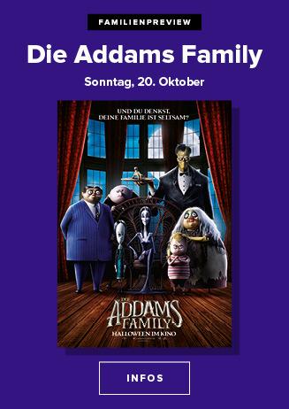 Familienpreview am 20.10.2019 um 15 Uhr: Die Addams Family