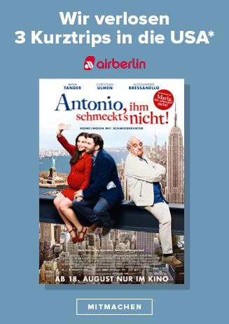 Bis 31.8. - Gewinnspiel: Antonio, ihm schmeckts nicht!
