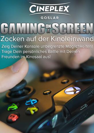 Gaming im Kino - Spiele auf der großen Leinwand