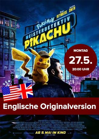 """Englische OV: """"Pokémon Meisterdetektiv Pikachu"""""""