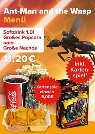 Menü Ant- Man and the Wasp