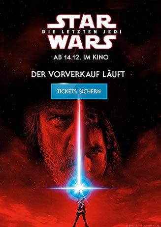 Vorverkaufsstart: STAR WARS - DIE LETZTEN JEDI ab 10.10.2017