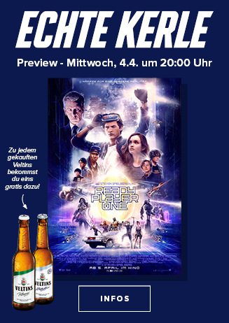 "Echte Kerle-Preview: ""Ready Player One (3D)"""