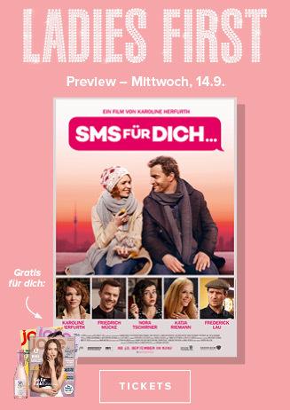 14.9. - Ladies First: SMS für Dich