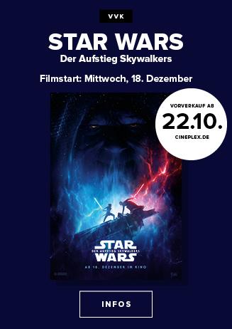 Ab Dienstag im Vorverkauf: Star Wars: Der Aufstieg Skywalkers