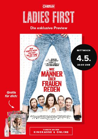 Ladies First-Preview: WIE MÄNNER ÜBER FRAUEN REDEN