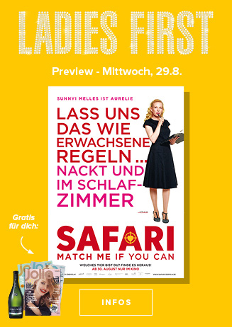 29.08. - Ladies First: Safari - Match Me If You Can