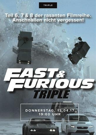 Triple Fast Furious 6-8