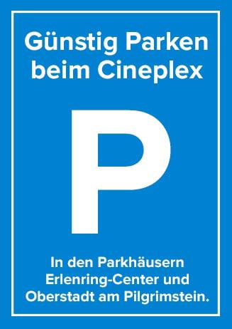 Günstig Parken beim Cineplex