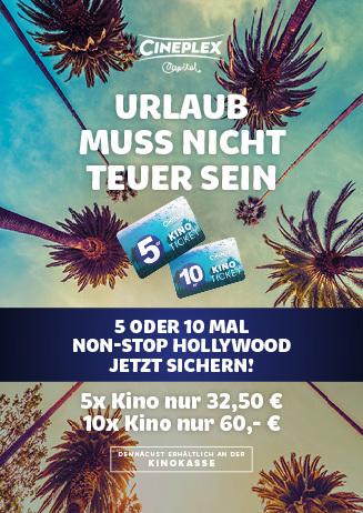 5er- & 10er-Tickets für das Cineplex Capitol Kassel