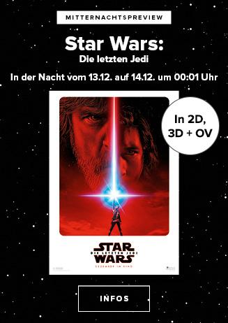 Mitternachtspreview - Star Wars: Die Letzten Jedi (2D, 3D, OV)