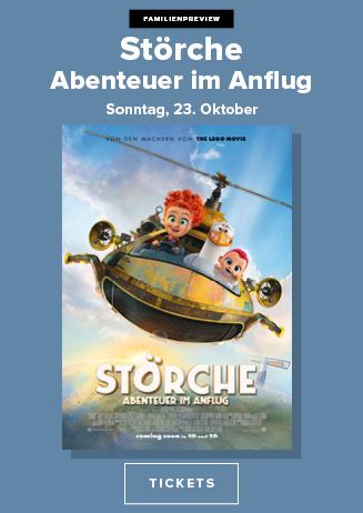 """Familienpreview """"Störche - Abenteuer im Anflug"""""""