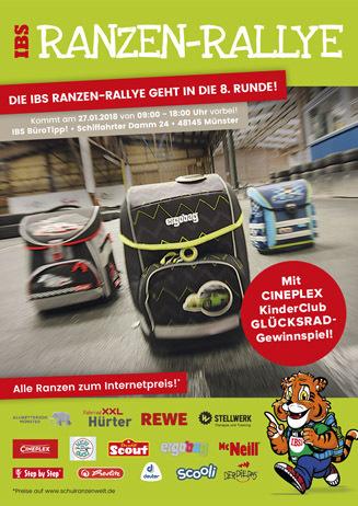 Ranzen-Rallye mit CINEPLEX-Stand
