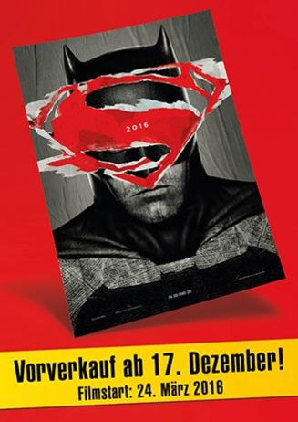 Vorverkauf: Batman vs Superman