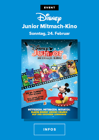 Disney Junior Mitmach-Kino am 24.02.2019 um 15 Uhr