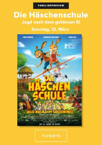 """Familienpreview """"Die Häschenschule - Jagd nach dem goldenen Ei"""""""