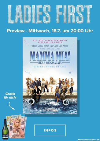 18.07. - Ladies First: Mamma Mia 2
