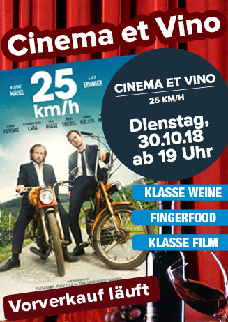 "Cinema & Vino: ""25 km/h"""