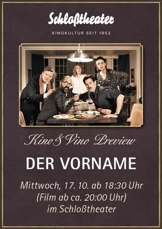 Kino&Vino-Preview: DER VORNAME