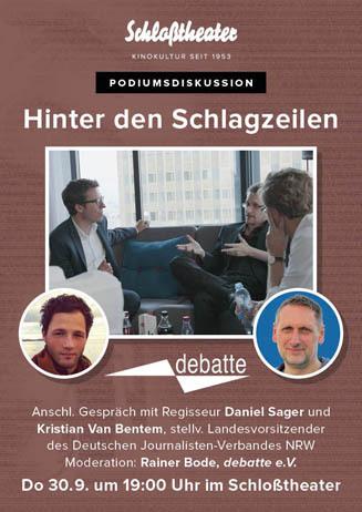 HINTER DEN SCHLAGZEILEN mit Regisseur und debatte e.V.