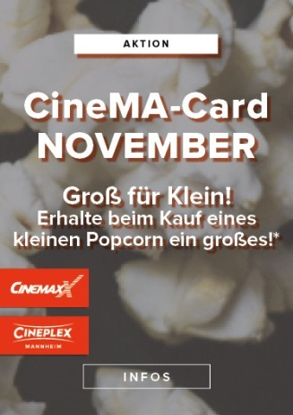 CineMa Card Monatsaktion November