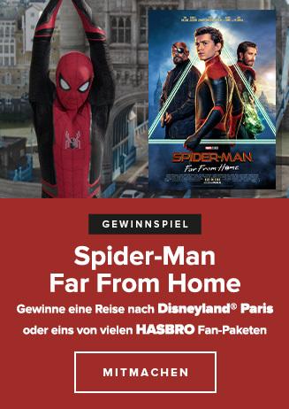 """Reisegewinnspiel zu """"Spiderman: Far from home"""" bis 31.7"""