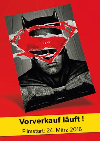"""160324 Vorverkauf läuft: """"Batman v Superman: Dawn of Justice"""""""