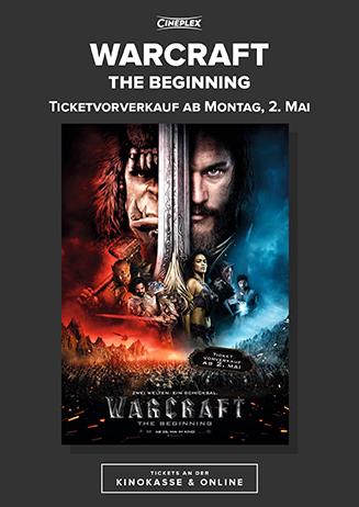 """Vorverkauf """"Warcraft"""""""