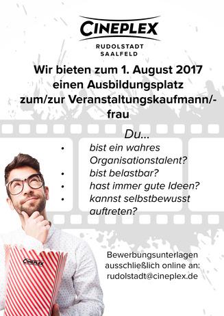 Ausbildung im Cineplex Rudolstadt - Saalfeld