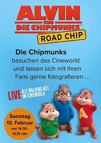 160213 Die Chipmunks live im CINEWORLD