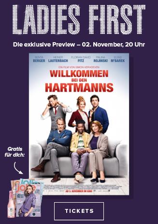 """Ladies First Preview """"Willkommen bei den Hartmanns"""""""