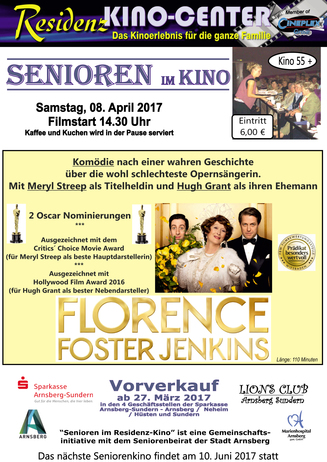 Seniorenkino: FLORENCE FOSTER JENKINS