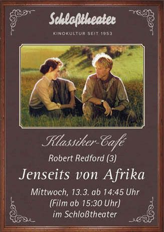 Klassiker-Café: JENSEITS VON AFRIKA