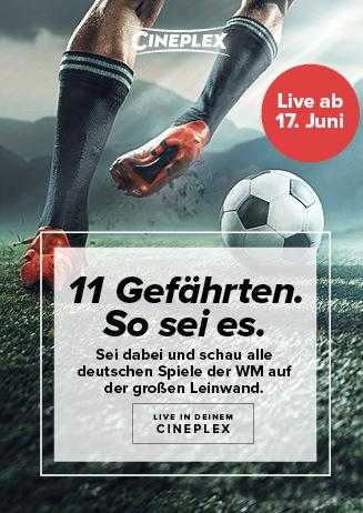 Fußball WM auf der Kinoleinwand!